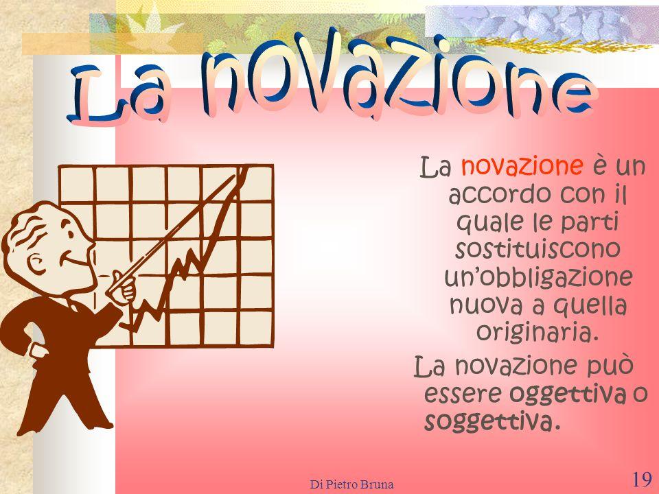 La novazioneLa novazione è un accordo con il quale le parti sostituiscono un'obbligazione nuova a quella originaria.