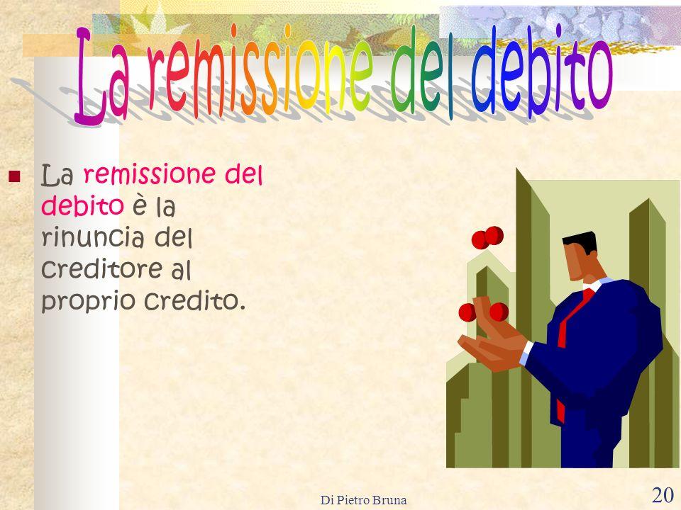 La remissione del debito
