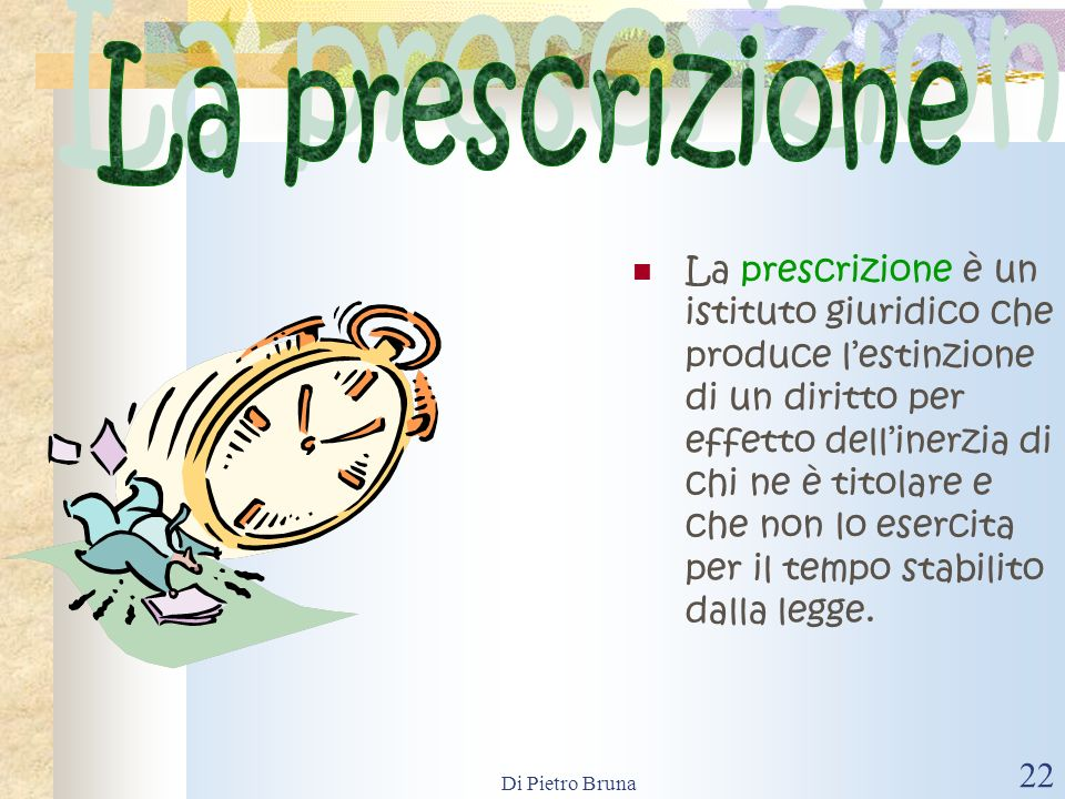 La prescrizione