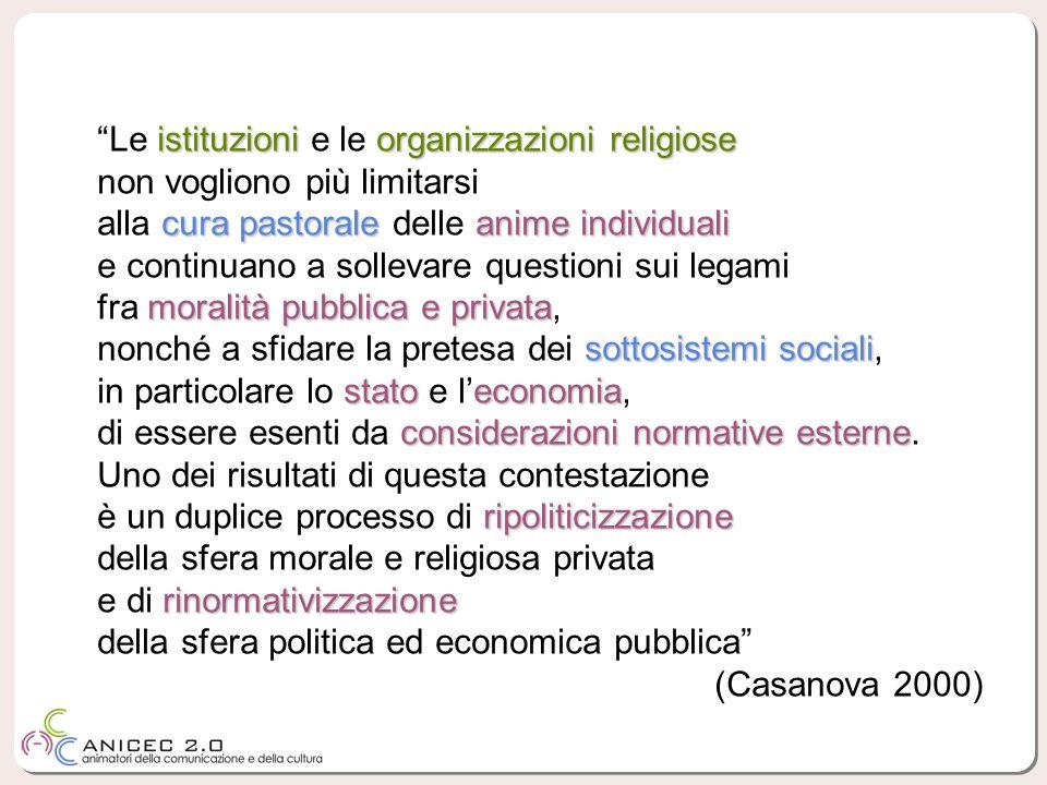Le istituzioni e le organizzazioni religiose