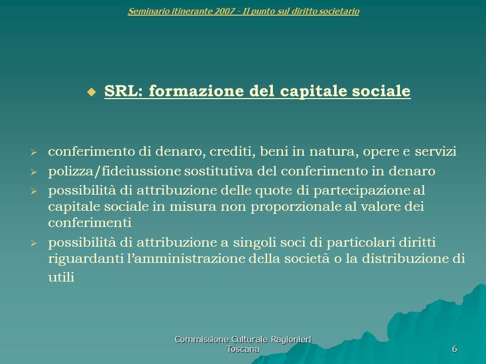 Seminario itinerante 2007 - Il punto sul diritto societario