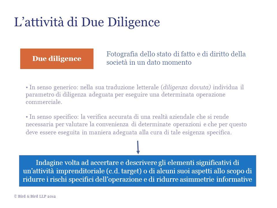 L'attività di Due Diligence
