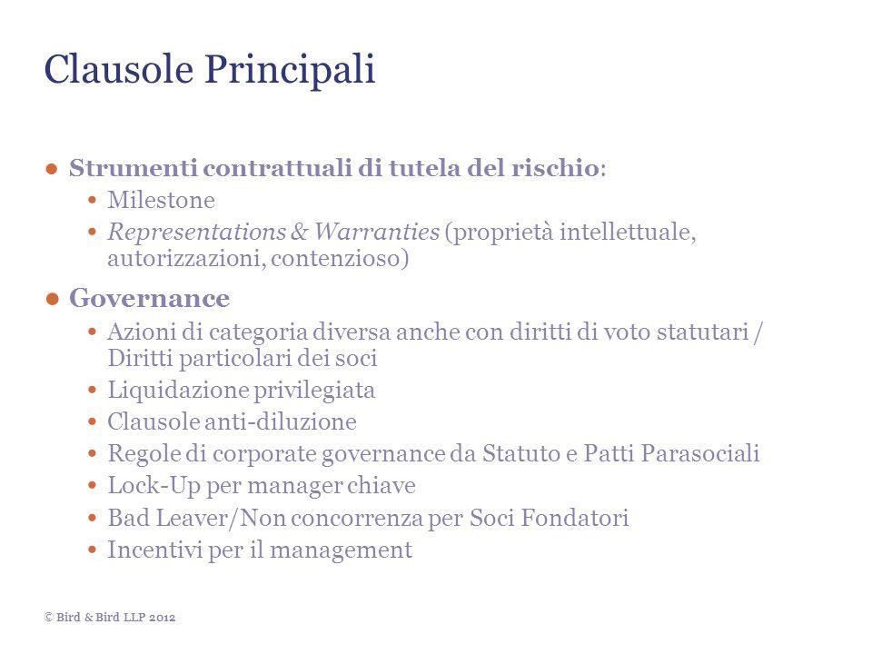 Clausole Principali Governance