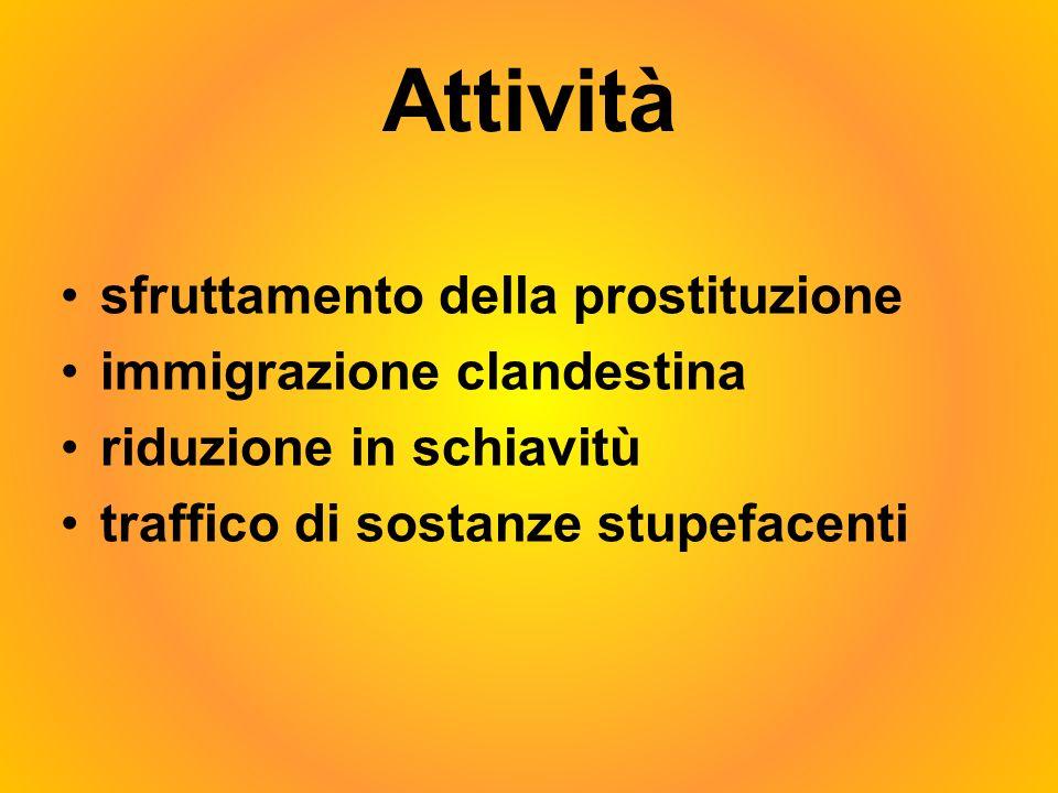 Attività sfruttamento della prostituzione immigrazione clandestina