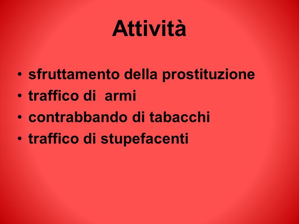 Attività sfruttamento della prostituzione traffico di armi