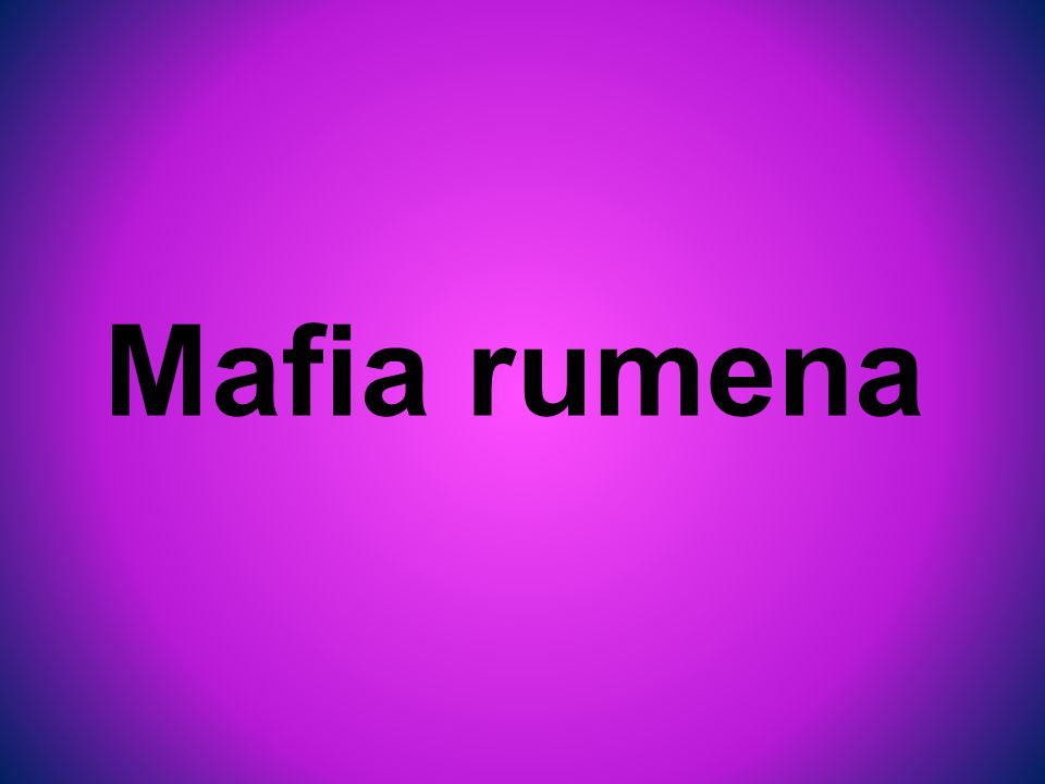 Mafia rumena