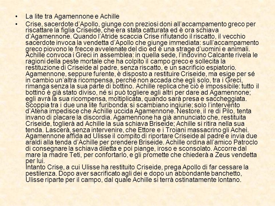 La lite tra Agamennone e Achille