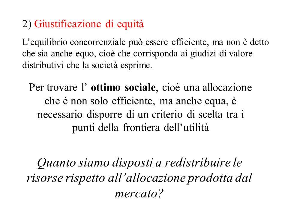 2) Giustificazione di equità