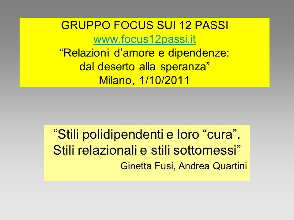GRUPPO FOCUS SUI 12 PASSI www. focus12passi