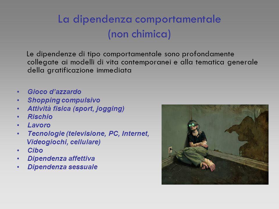 La dipendenza comportamentale (non chimica)