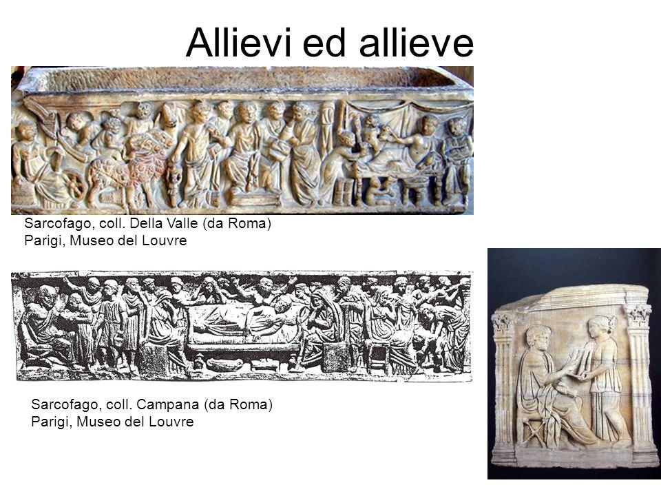 Allievi ed allieve Sarcofago, coll. Della Valle (da Roma)