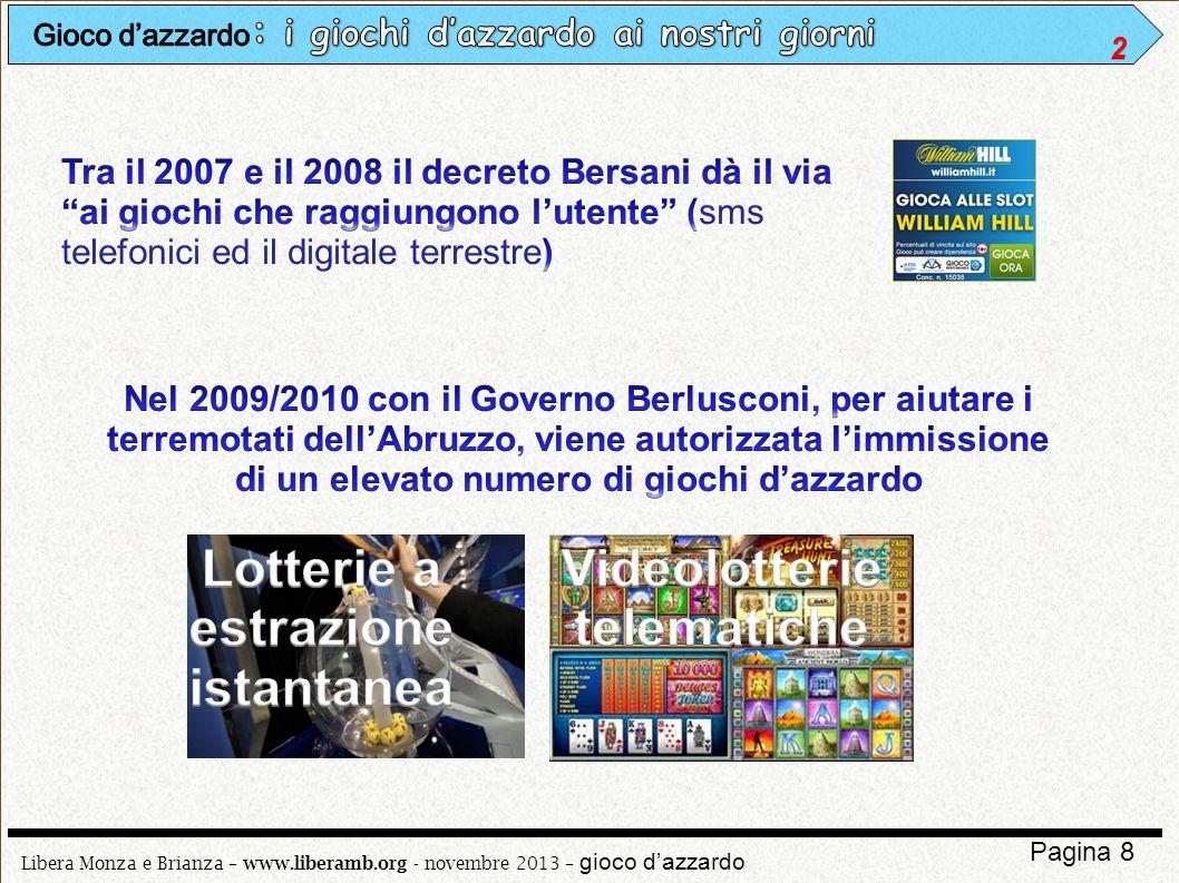 Lotterie a estrazione istantanea Videolotterie telematiche
