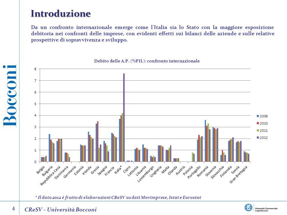 Introduzione 4 CReSV – Università Bocconi