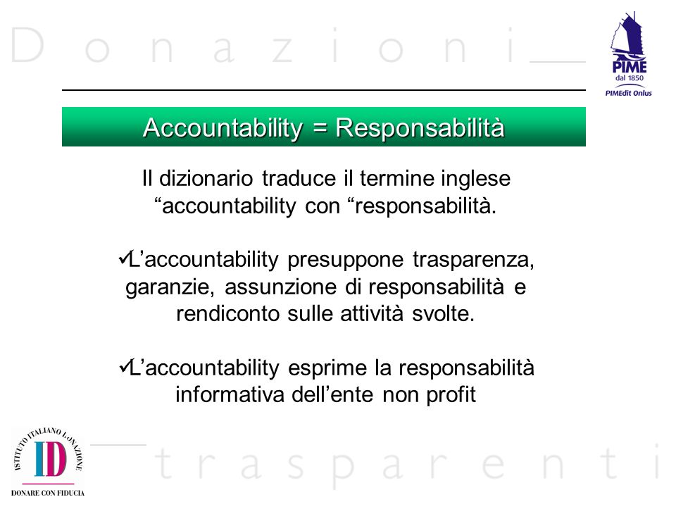 Accountability = Responsabilità