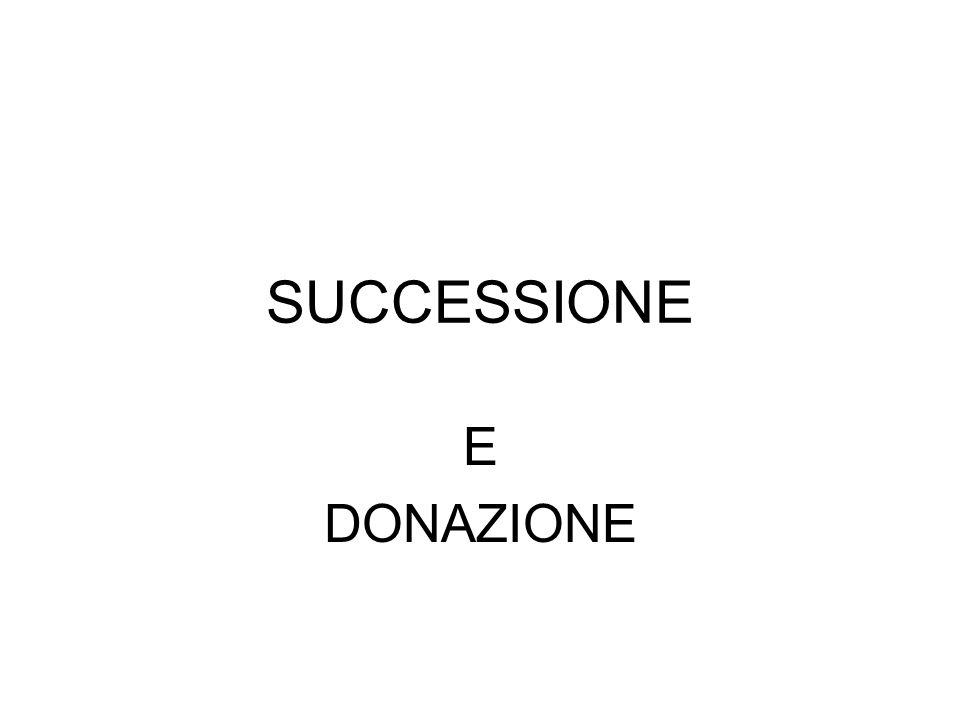 SUCCESSIONE E DONAZIONE