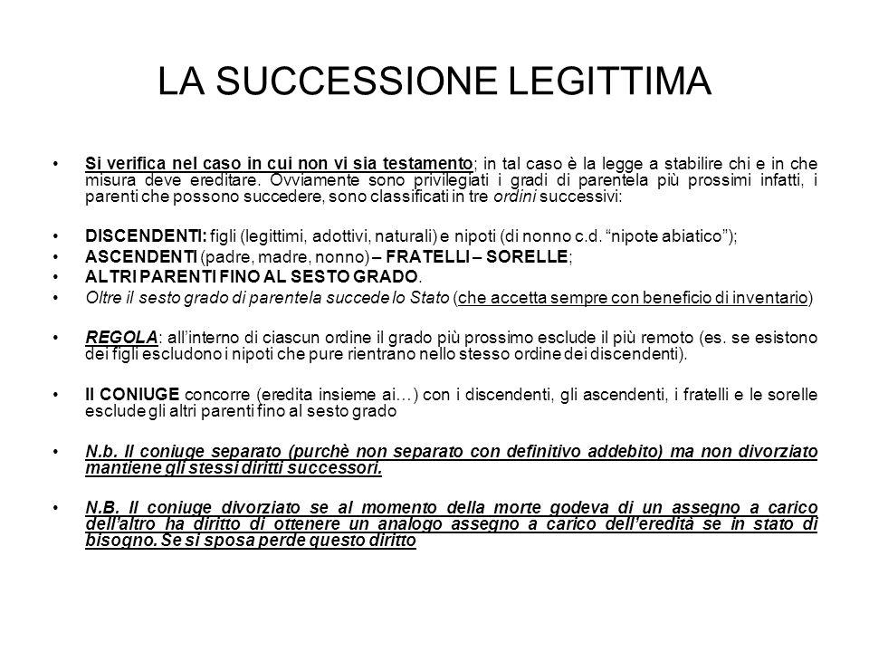 LA SUCCESSIONE LEGITTIMA
