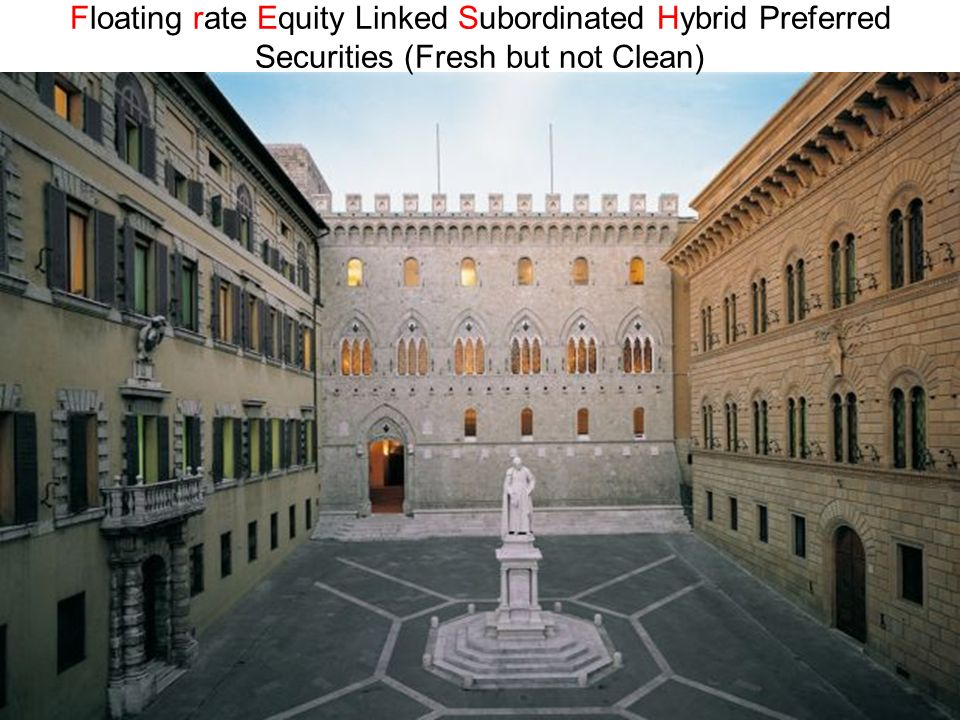 Floating rate Equity Linked Subordinated Hybrid Preferred Securities (Fresh but not Clean)