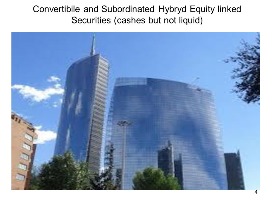 Convertibile and Subordinated Hybryd Equity linked Securities (cashes but not liquid)