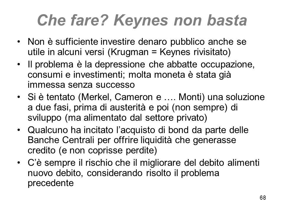Che fare Keynes non basta
