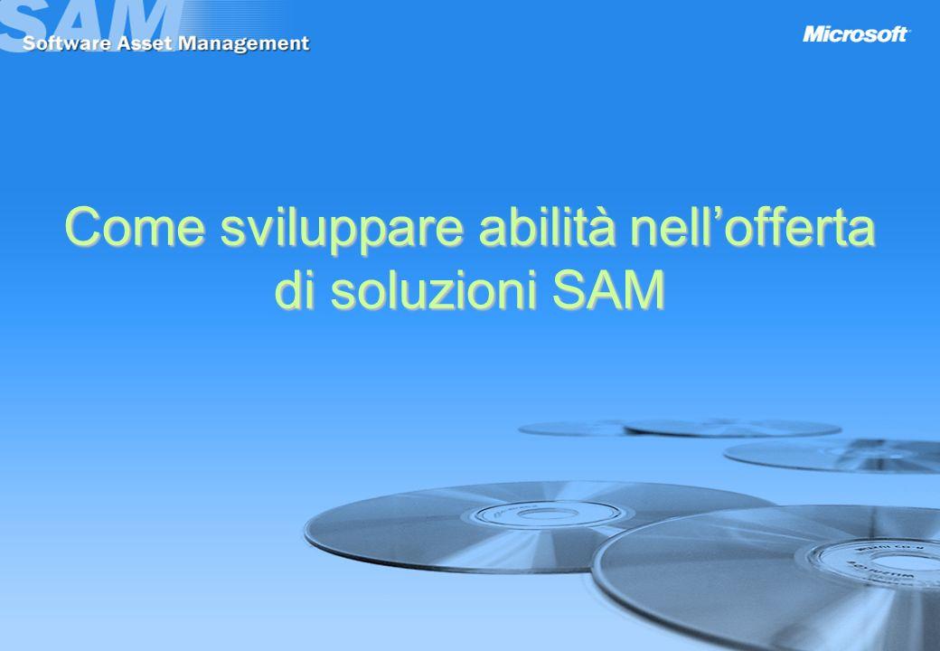 Come sviluppare abilità nell'offerta di soluzioni SAM