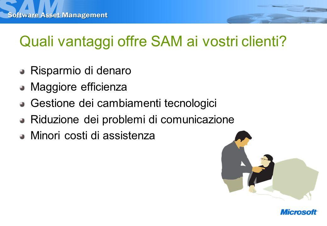 Quali vantaggi offre SAM ai vostri clienti