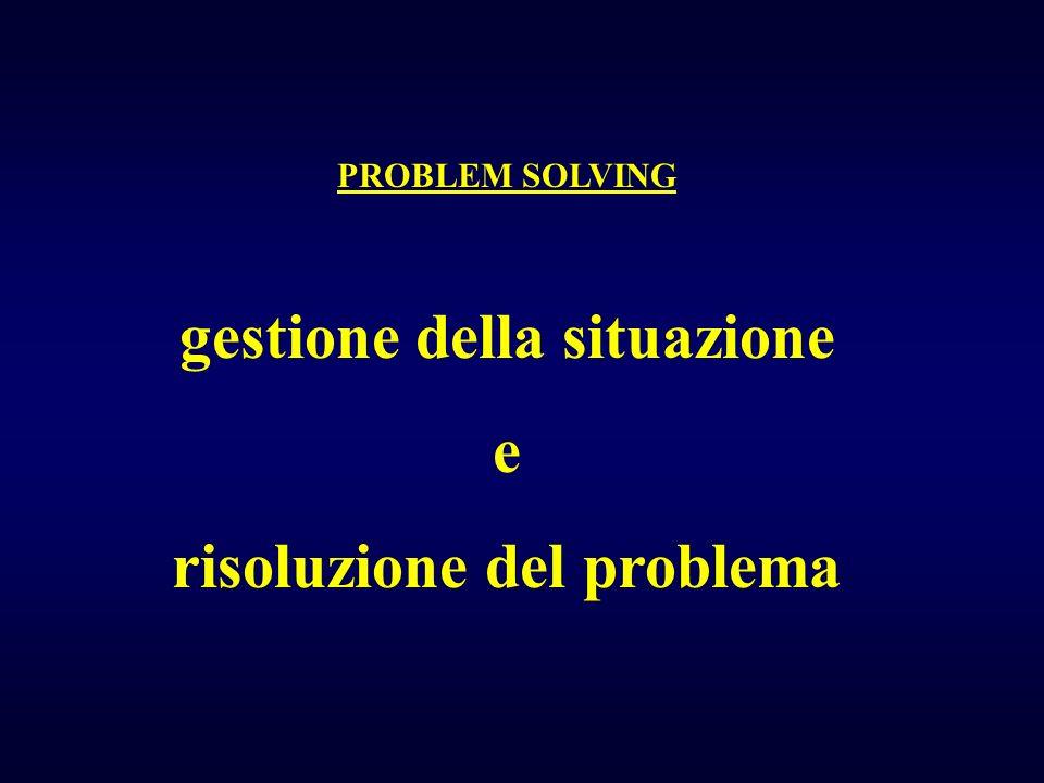 gestione della situazione risoluzione del problema