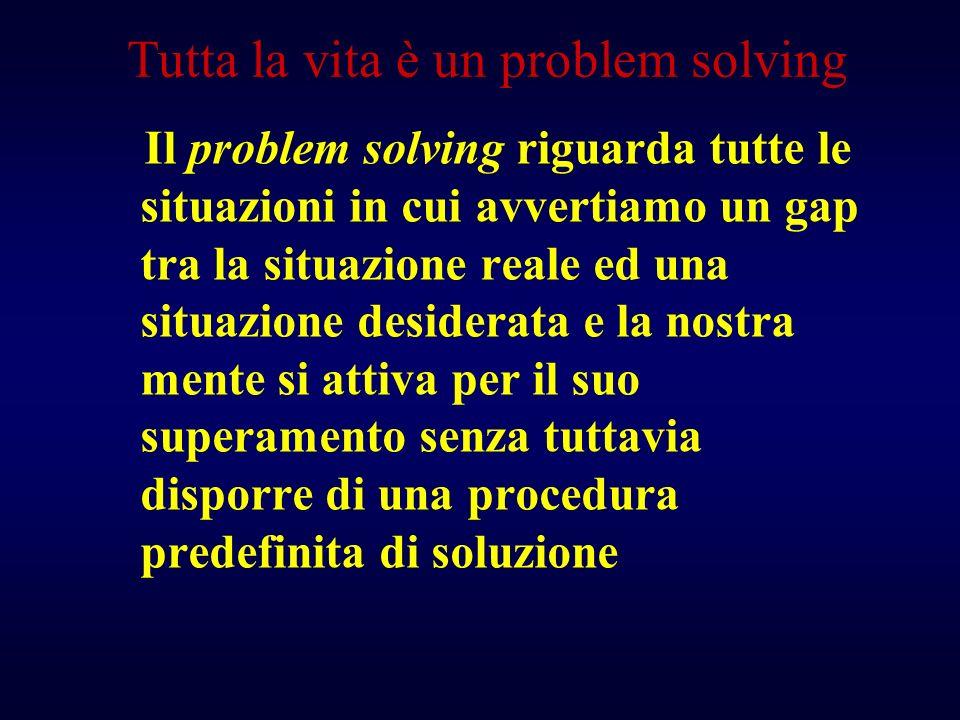 Tutta la vita è un problem solving