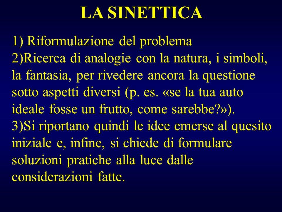 LA SINETTICA 1) Riformulazione del problema