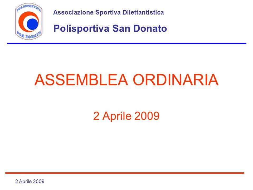 ASSEMBLEA ORDINARIA 2 Aprile 2009 Polisportiva San Donato