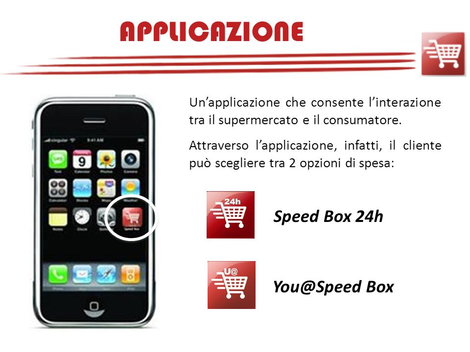 APPLICAZIONE Speed Box 24h You@Speed Box
