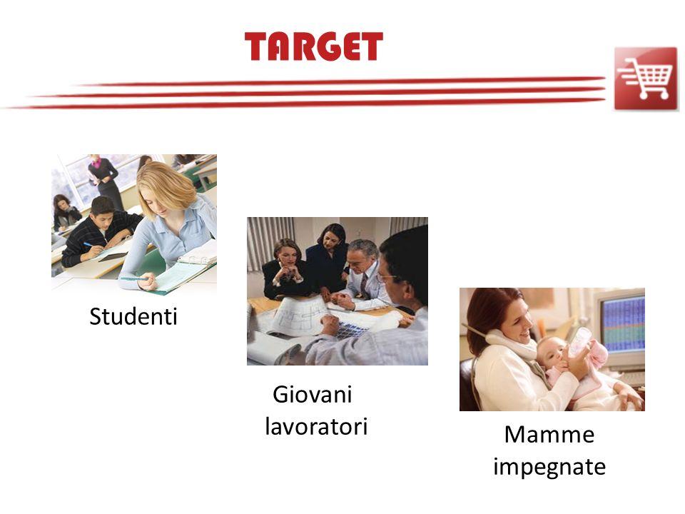 TARGET Studenti Giovani lavoratori Mamme impegnate