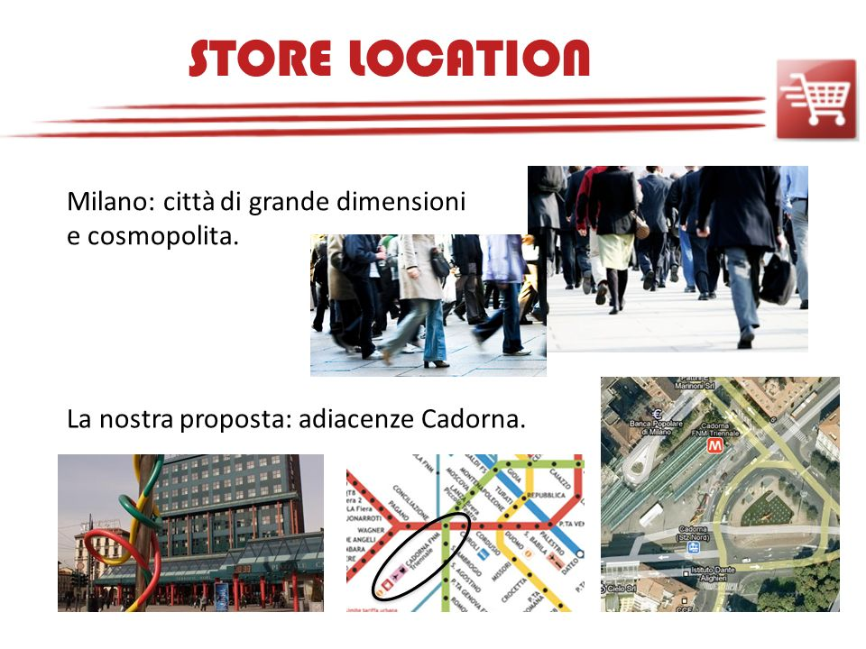 STORE LOCATION Milano: città di grande dimensioni e cosmopolita.