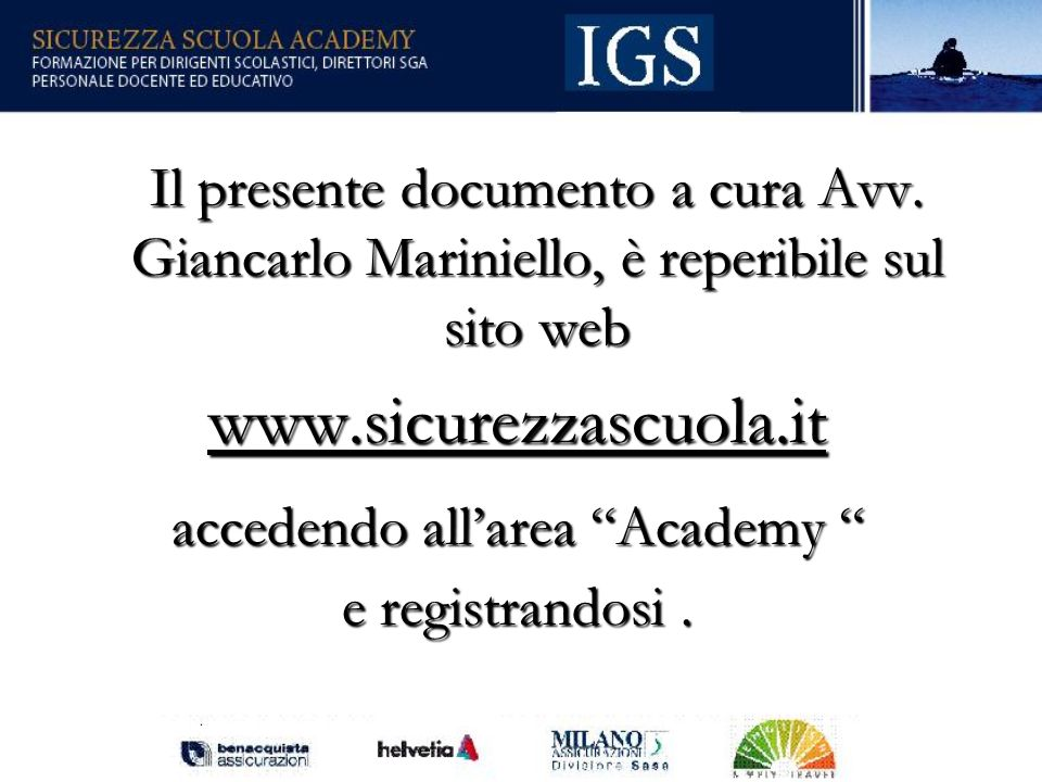 accedendo all'area Academy