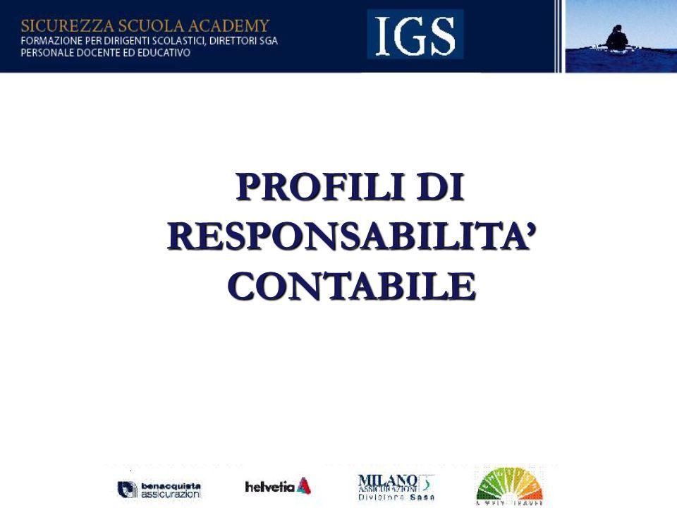 PROFILI DI RESPONSABILITA' CONTABILE