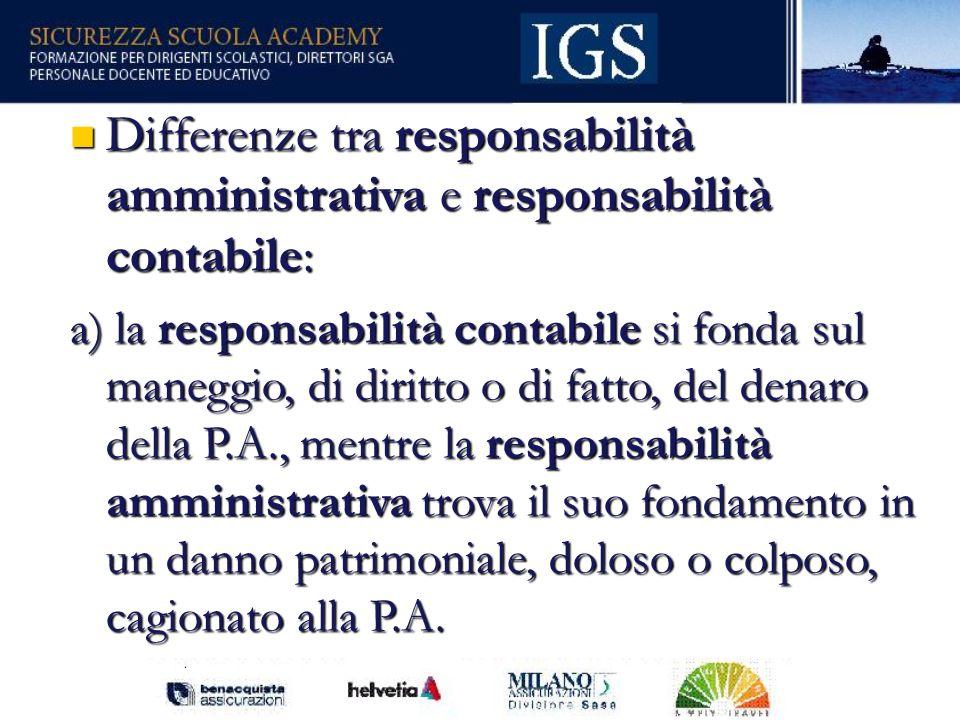 Differenze tra responsabilità amministrativa e responsabilità contabile: