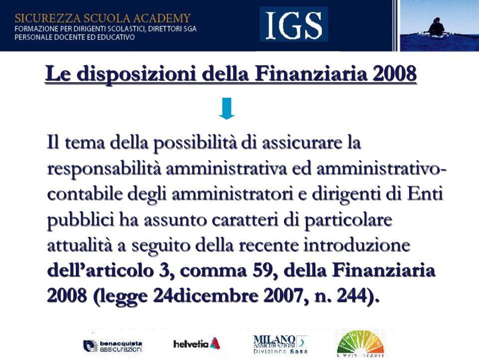 Le disposizioni della Finanziaria 2008