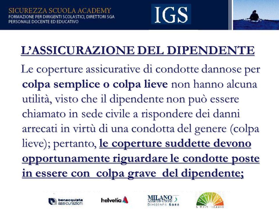 L'ASSICURAZIONE DEL DIPENDENTE