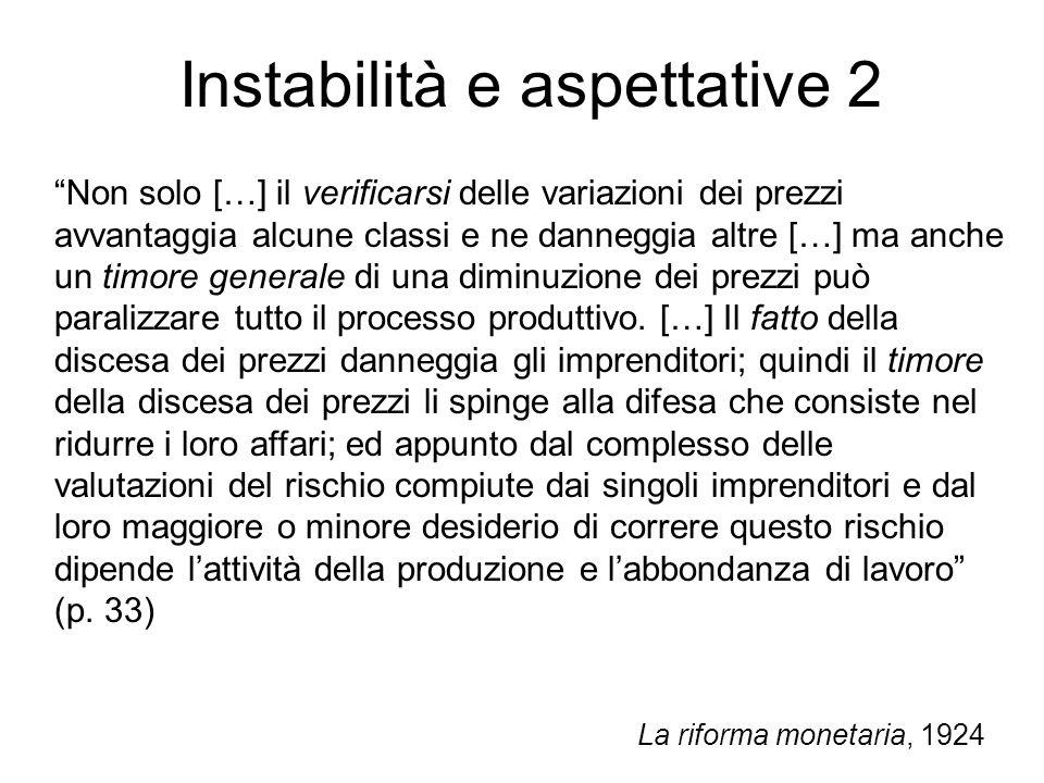 Instabilità e aspettative 2