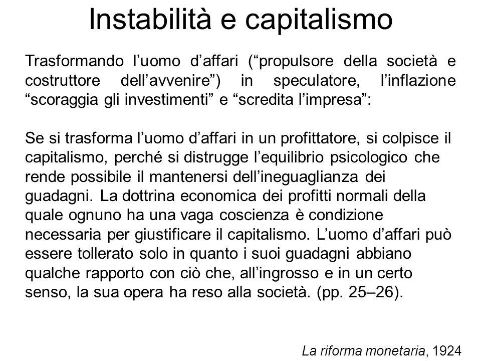 Instabilità e capitalismo