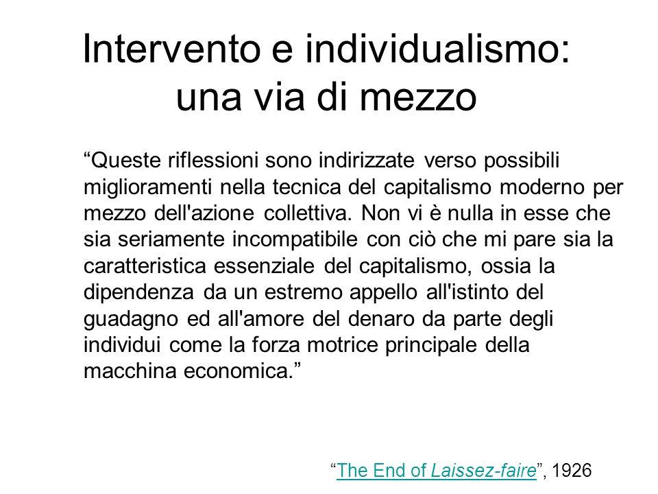 Intervento e individualismo: una via di mezzo