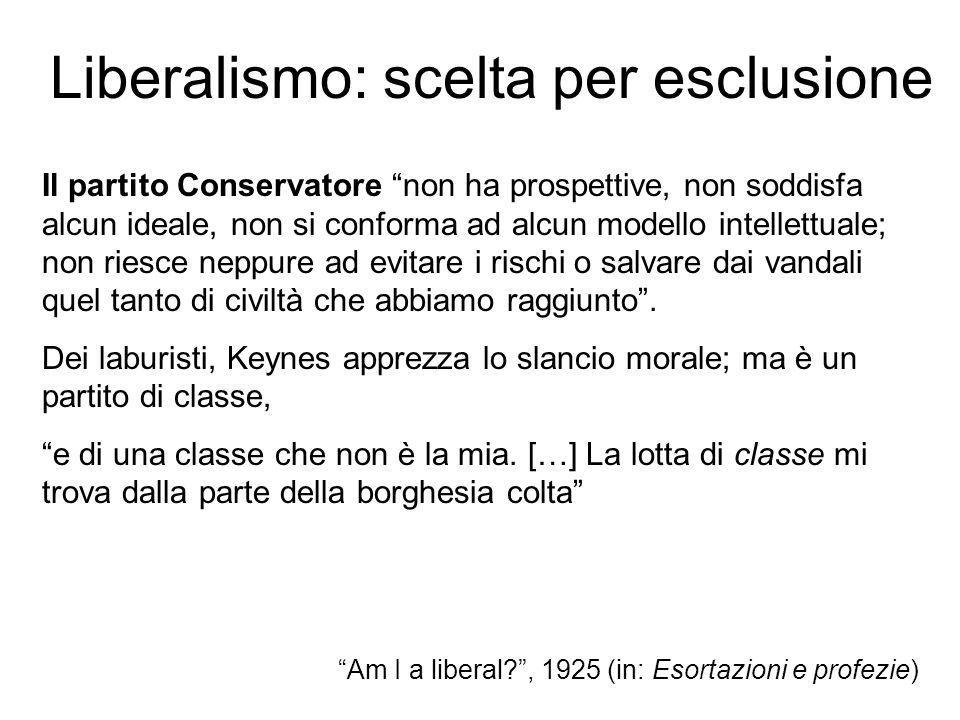 Liberalismo: scelta per esclusione