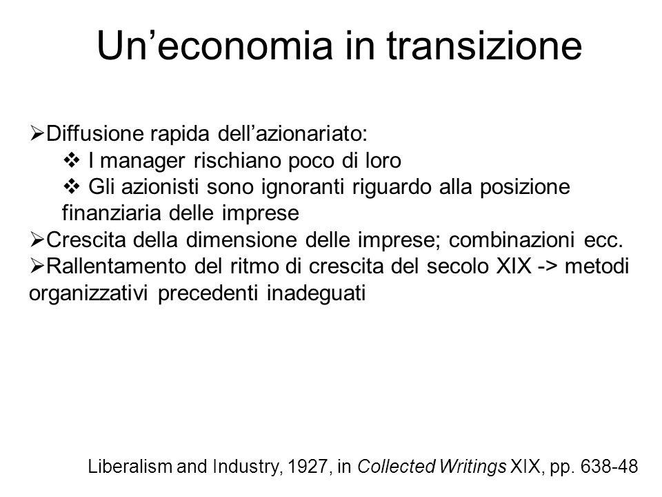 Un'economia in transizione
