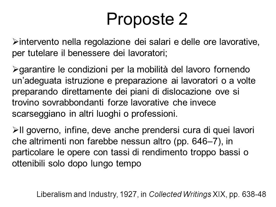 Proposte 2 intervento nella regolazione dei salari e delle ore lavorative, per tutelare il benessere dei lavoratori;