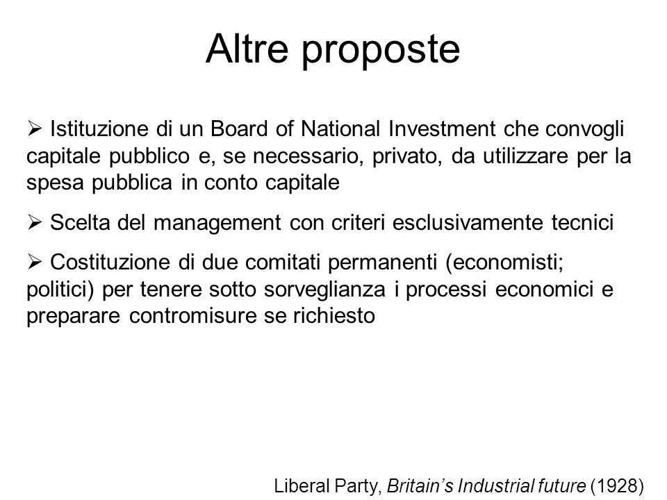 Altre proposte