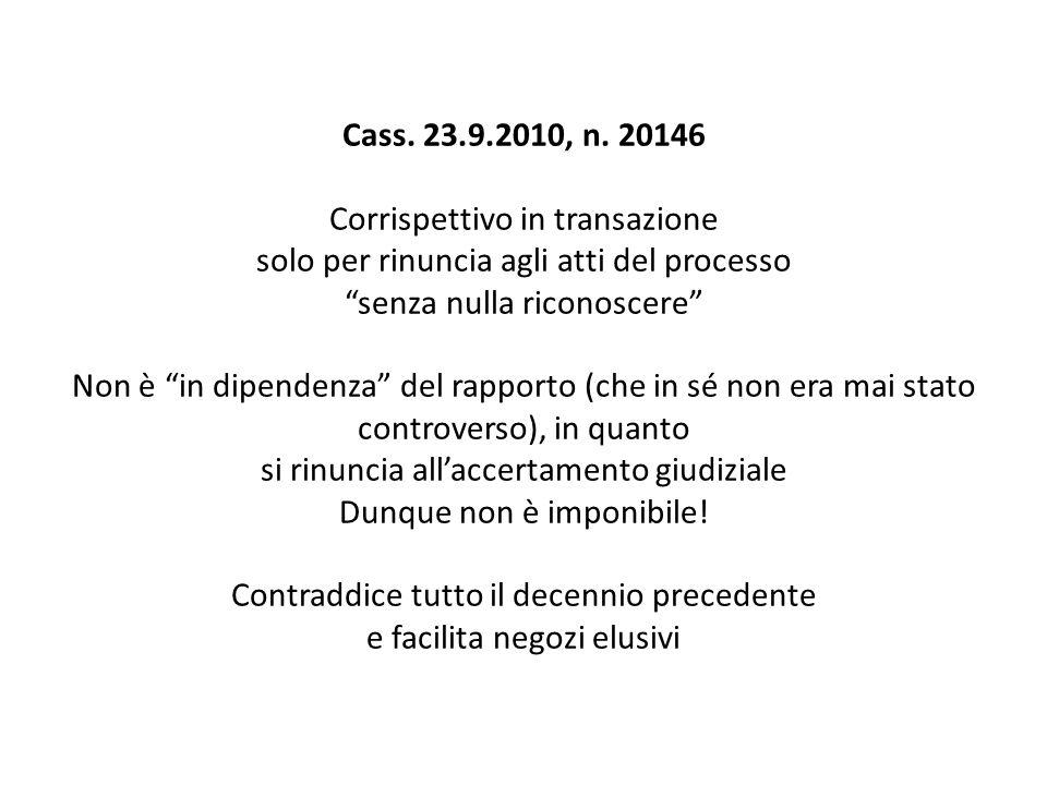 Cass. 23.9.2010, n.