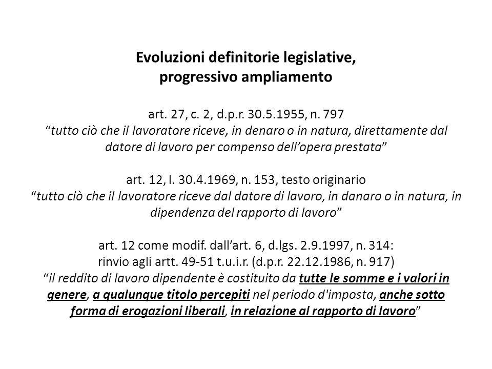Evoluzioni definitorie legislative, progressivo ampliamento art. 27, c