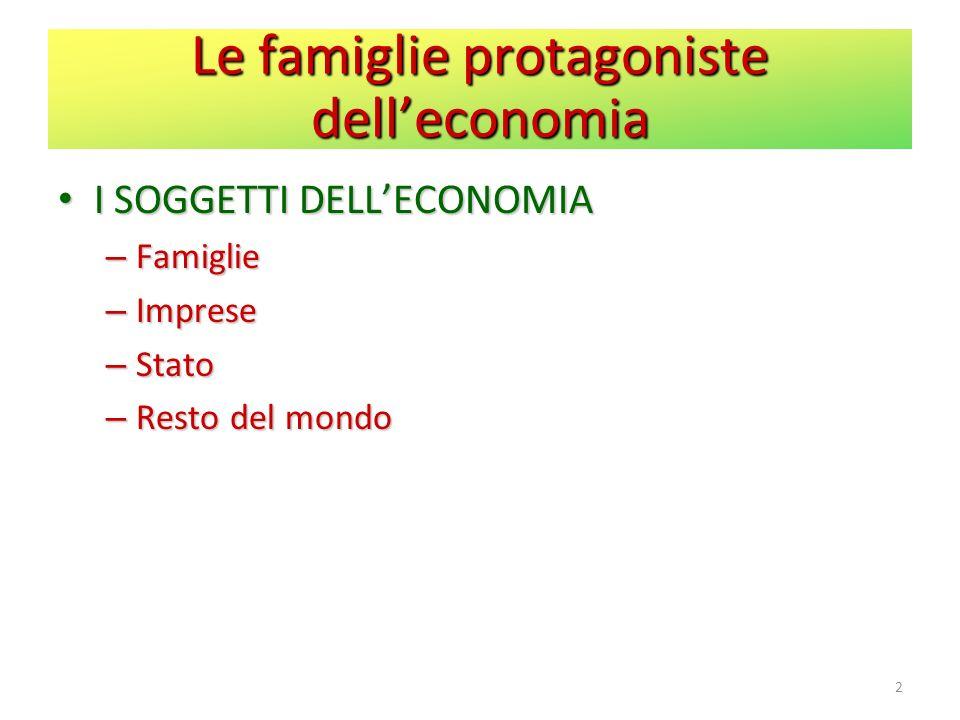 Le famiglie protagoniste dell'economia