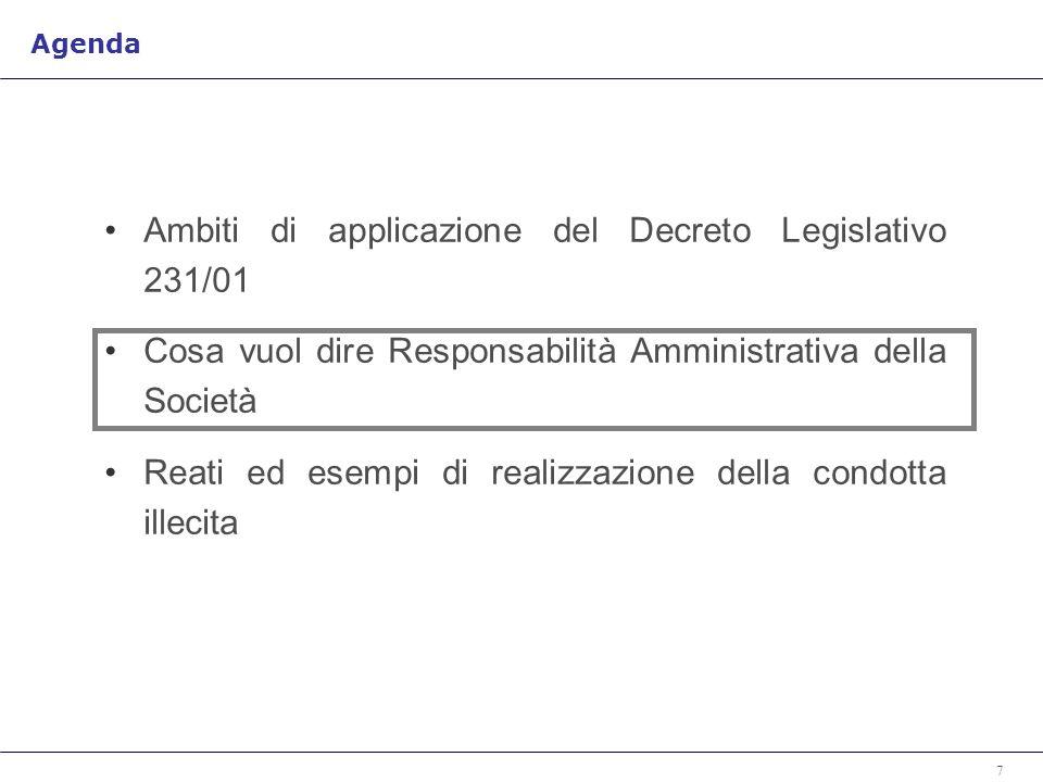 Ambiti di applicazione del Decreto Legislativo 231/01
