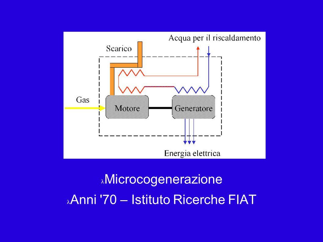 Microcogenerazione Anni 70 – Istituto Ricerche FIAT