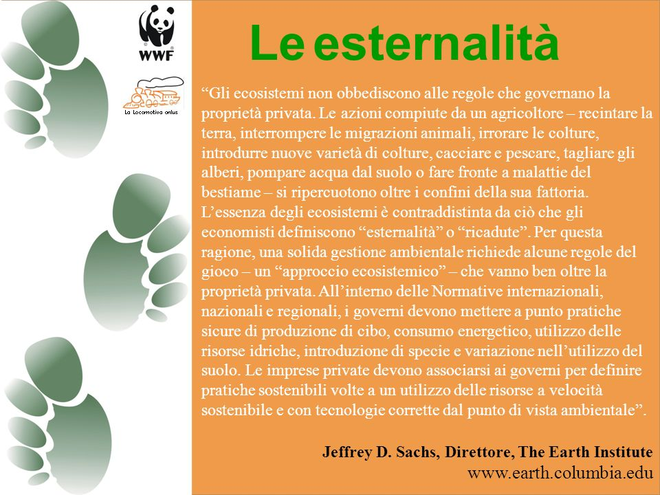 Le esternalità www.earth.columbia.edu